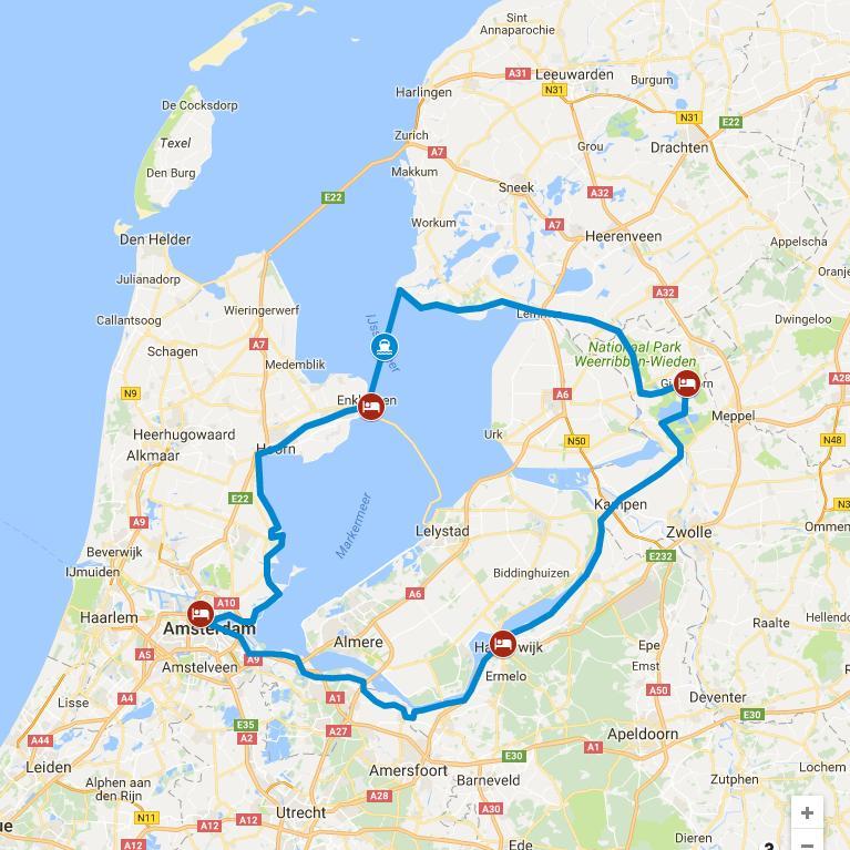 Giethoorn Karte.Dutchbiketours Ijsselmeer Sportiv Tour 6 Dagen